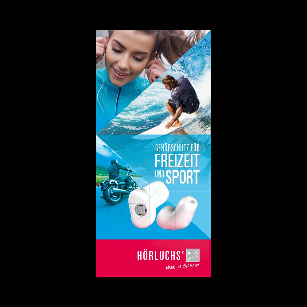 Flyer Gehörschutz für Freizeit und Sport