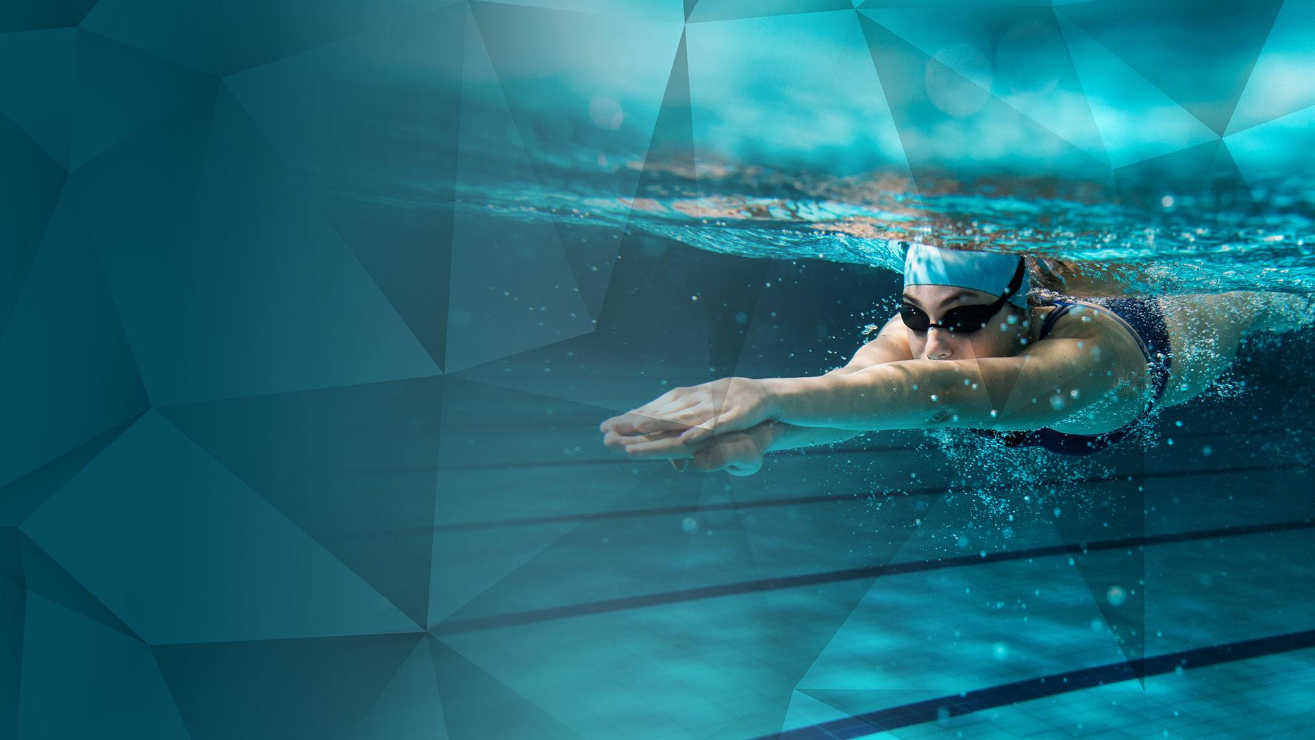 Spritzwasserschutz für Schwimmen und Wassersport