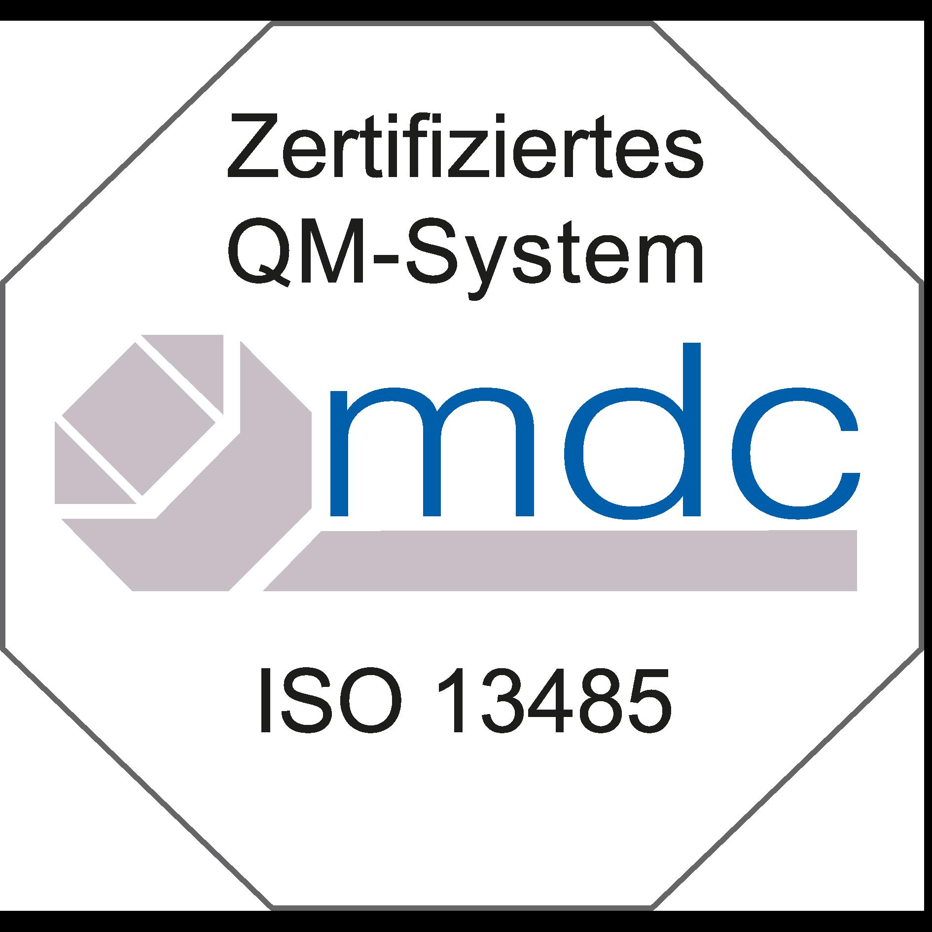 DIN ISO 13485 Zertifizierung