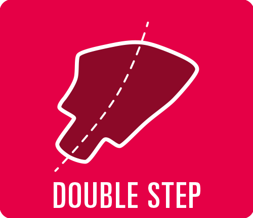 "Earmould option type ""Double step"""