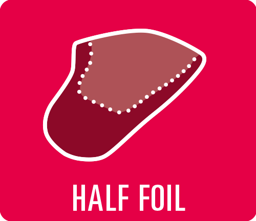 "Earmould option type ""Half foil"""