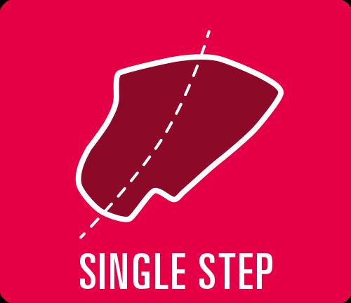 """Earmould option type """"Single Step"""""""