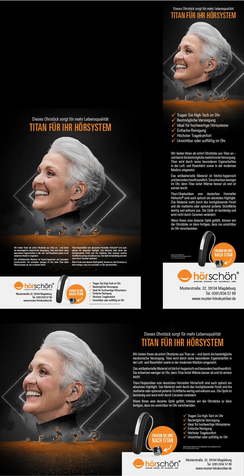 Titan Marketing-Aktion Anzeigenbeispiele